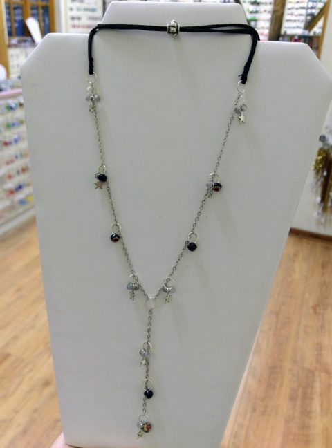 Lariat Style Charm Necklace